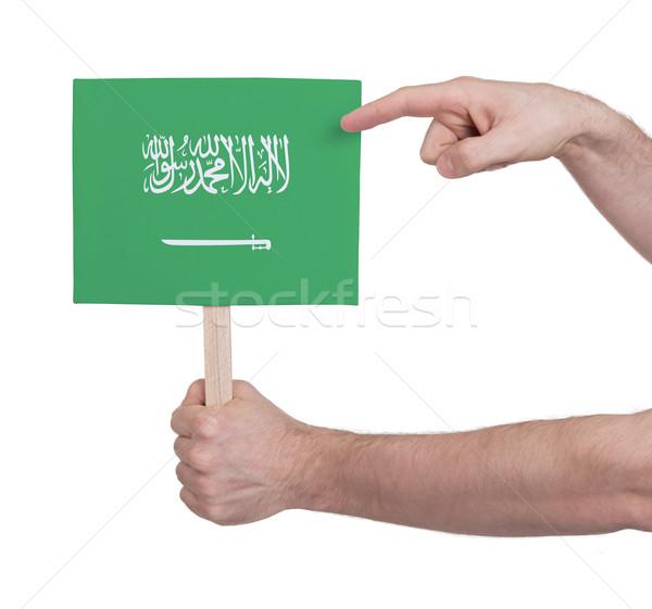 El küçük kart bayrak Suudi Arabistan Stok fotoğraf © michaklootwijk