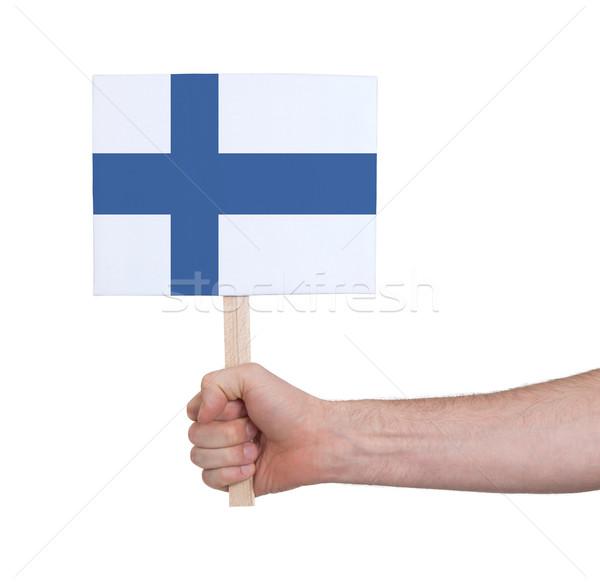 Strony mały karty banderą Finlandia Zdjęcia stock © michaklootwijk