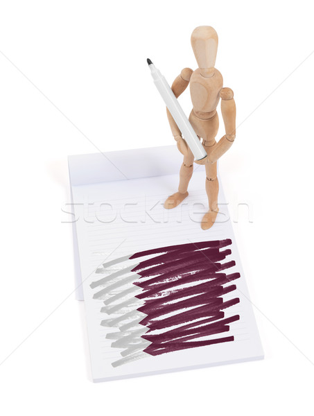 Wooden mannequin made a drawing - Qatar Stock photo © michaklootwijk