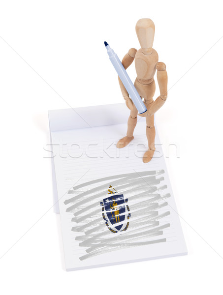 Wooden mannequin made a drawing - Massachusetts Stock photo © michaklootwijk