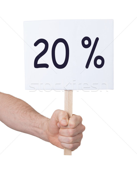 Stock photo: Sale - Hand holding sigh that says 20%