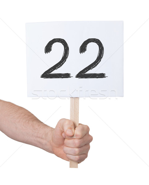 Sign with a number, 22 Stock photo © michaklootwijk