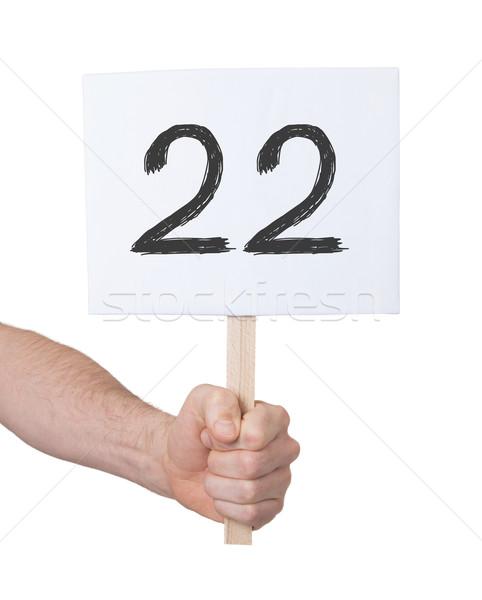Assinar número 22 isolado branco negócio Foto stock © michaklootwijk