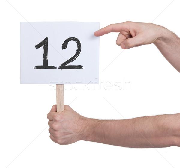 знак числа 12 изолированный белый бизнеса Сток-фото © michaklootwijk