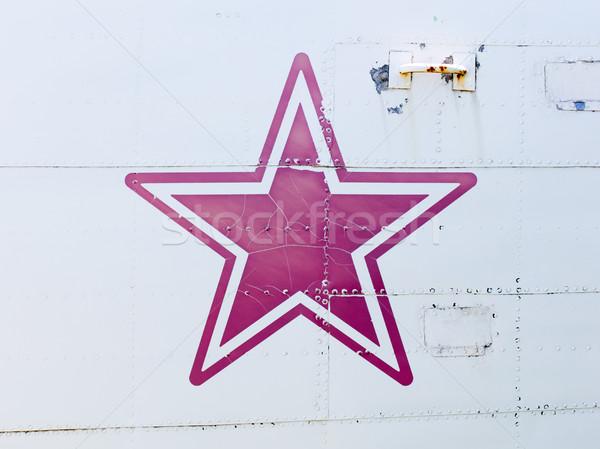 Estrela símbolo velho guerra avião avião Foto stock © michaklootwijk