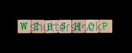 Letters on wooden blocks (coffee) Stock photo © michaklootwijk
