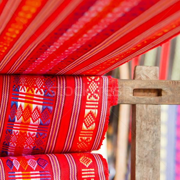 ハンドメイド シルク 繊維工業 スカーフ 古い マシン ストックフォト © michaklootwijk