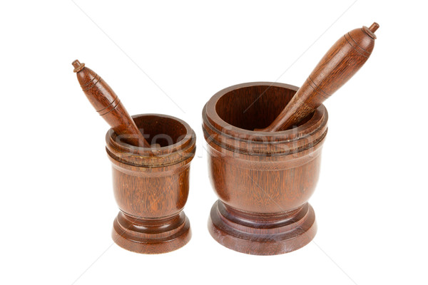 Wooden mortar for pounding spices Stock photo © michaklootwijk