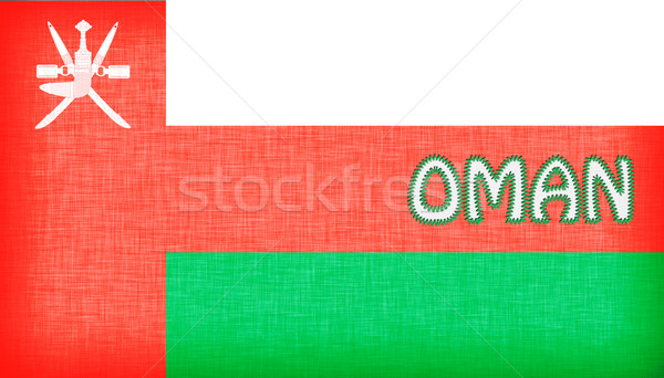 Flag of Oman stitched with letters Stock photo © michaklootwijk