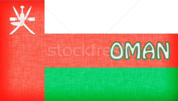 флаг Оман письма изолированный текстуры Мир Сток-фото © michaklootwijk