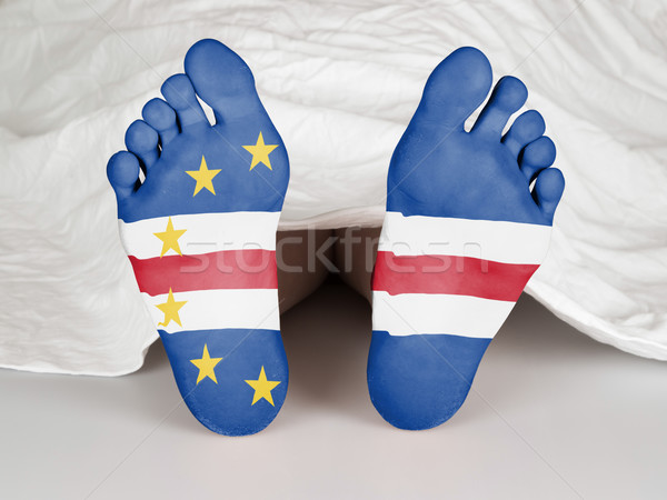 Láb zászló alszik halál nő bőr Stock fotó © michaklootwijk