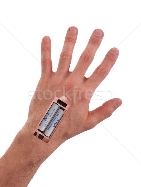 Robot - Insert the battery in an arm Stock photo © michaklootwijk