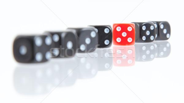 Row of dice Stock photo © michaklootwijk
