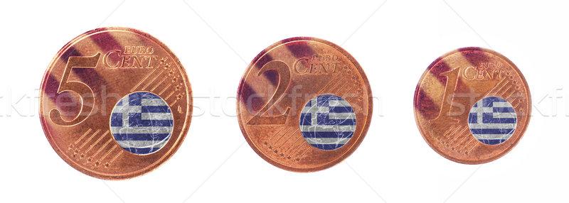 ストックフォト: ヨーロッパの · 組合 · フラグ · ギリシャ · 現金 · ヨーロッパ