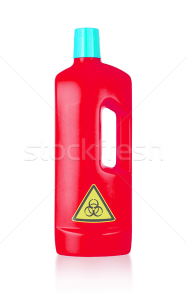 Plastic bottle cleaning-detergent, biohazard Stock photo © michaklootwijk