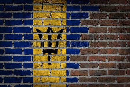 Buio muro di mattoni diritti Barbados texture bandiera Foto d'archivio © michaklootwijk
