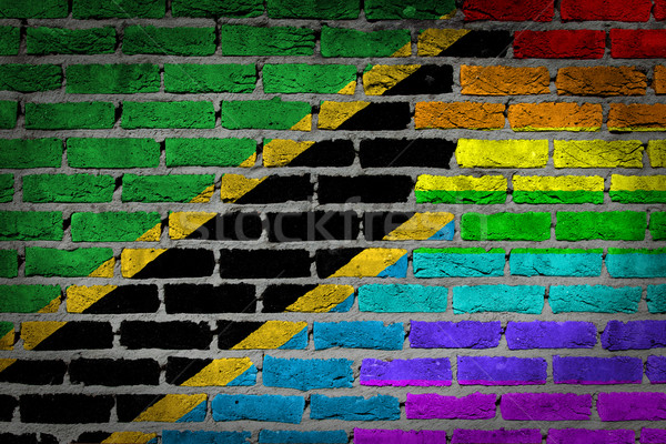 Dark brick wall - LGBT rights - Tanzania Stock photo © michaklootwijk