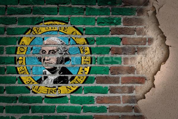 Dark brick wall with plaster - Washington Stock photo © michaklootwijk