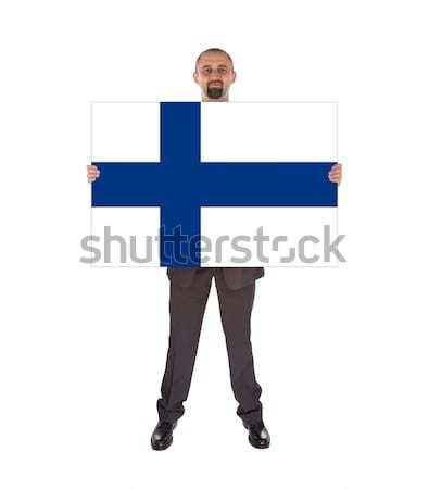 Bandera ardor Finlandia guerra crisis fuego Foto stock © michaklootwijk