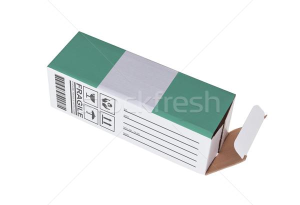 Exportar produto Nigéria papel caixa Foto stock © michaklootwijk