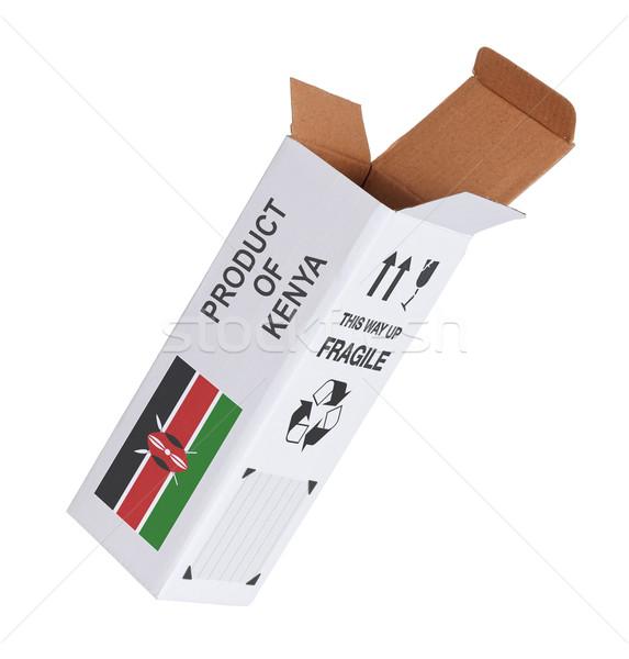 Ihracat ürün Kenya kâğıt kutu Stok fotoğraf © michaklootwijk