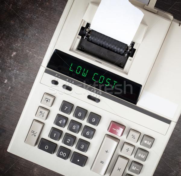 старые калькулятор текста отображения Сток-фото © michaklootwijk