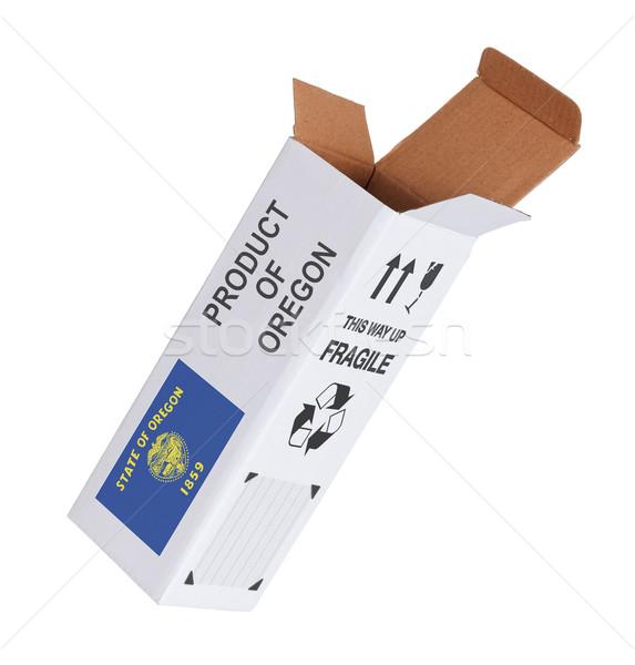 Eksport produktu Oregon papieru polu Zdjęcia stock © michaklootwijk