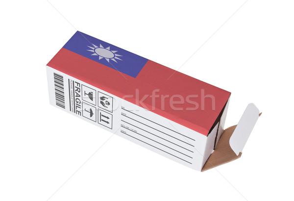 Esportazione prodotto Taiwan carta finestra Foto d'archivio © michaklootwijk