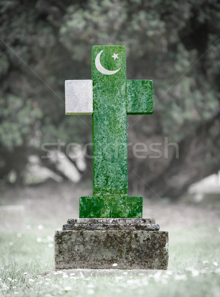 Gravestone in the cemetery - Pakistan Stock photo © michaklootwijk