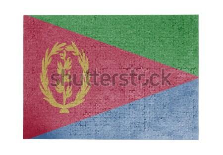 Groot 1000 stukken Dominica vlag Stockfoto © michaklootwijk