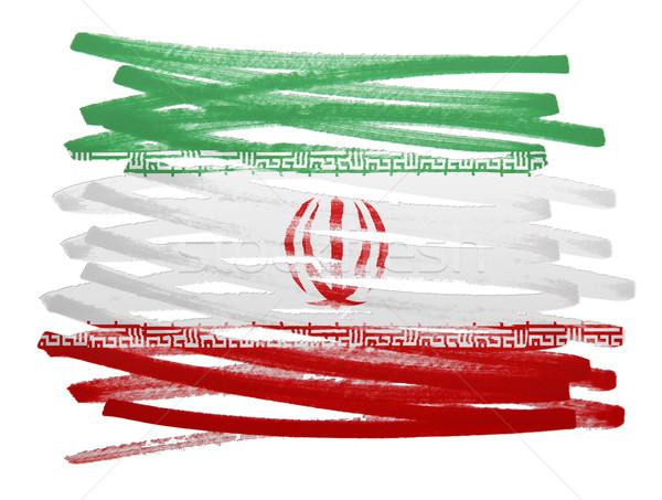 Stock fotó: Zászló · illusztráció · Irán · toll · terv · festék