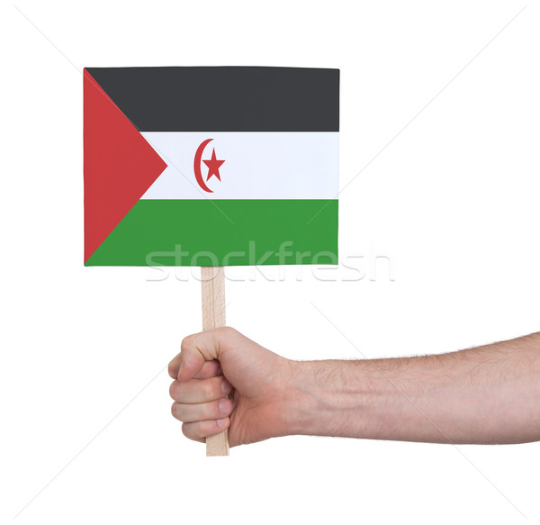 Mano pequeño tarjeta bandera occidental Foto stock © michaklootwijk