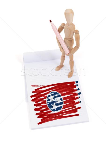 Manekin rysunek Tennessee banderą ciało Zdjęcia stock © michaklootwijk