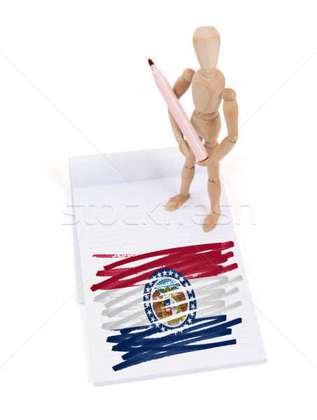 Wooden mannequin made a drawing - Missouri Stock photo © michaklootwijk