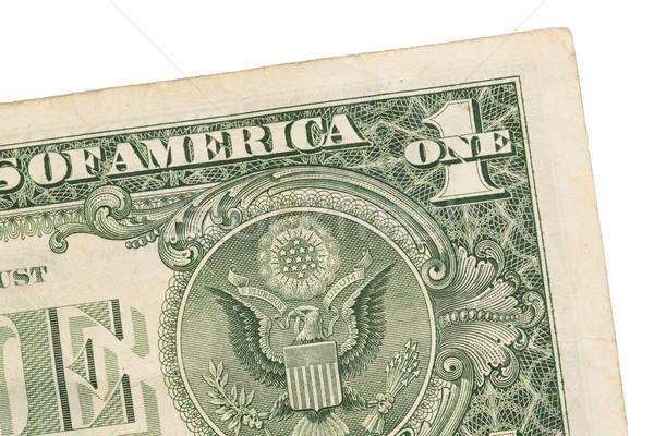 US one Dollar bill, close up, seal USA Stock photo © michaklootwijk