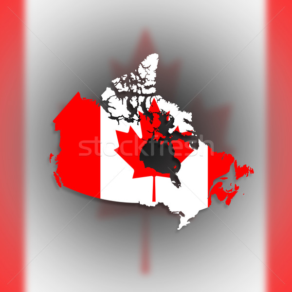 Canada map with the flag inside Stock photo © michaklootwijk