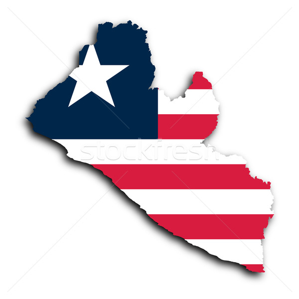 Map of Liberia Stock photo © michaklootwijk