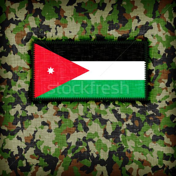 álca egyenruha Jordánia zászló textúra absztrakt Stock fotó © michaklootwijk