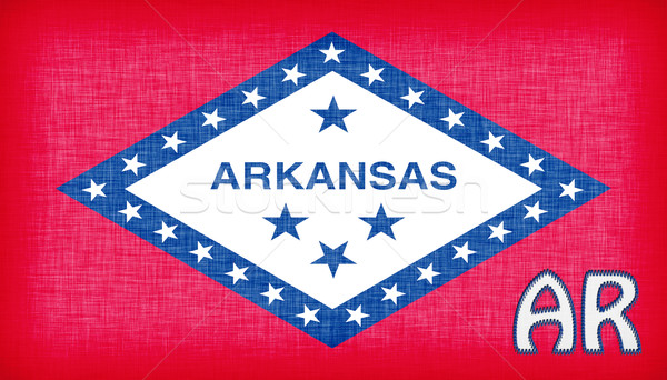 Linen flag of the US state of Arkansas Stock photo © michaklootwijk