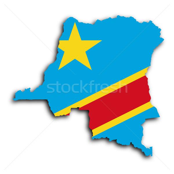Harita Kongo dünya Afrika ülke gölge Stok fotoğraf © michaklootwijk