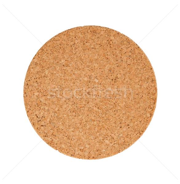 Circular cork trivet isolated Stock photo © michaklootwijk
