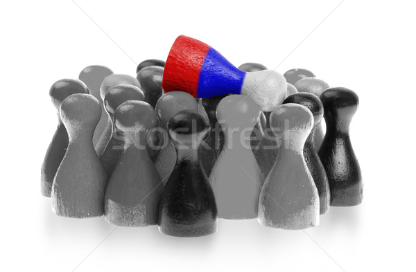 Bir üst bayrak Rusya Stok fotoğraf © michaklootwijk