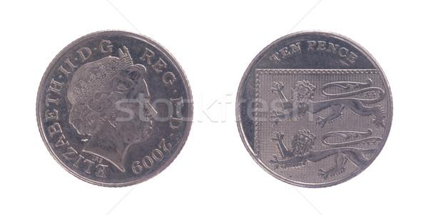 Ten Pence coin Stock photo © michaklootwijk