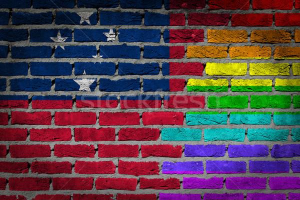 Donkere muur rechten Samoa textuur vlag Stockfoto © michaklootwijk