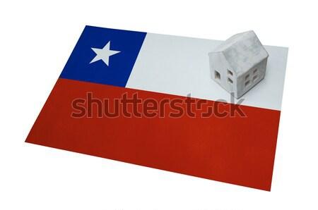 Zászló égő Chile háború válság tűz Stock fotó © michaklootwijk