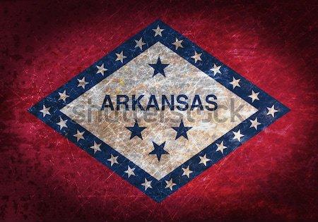 Zászló égő Arkansas háború válság tűz Stock fotó © michaklootwijk