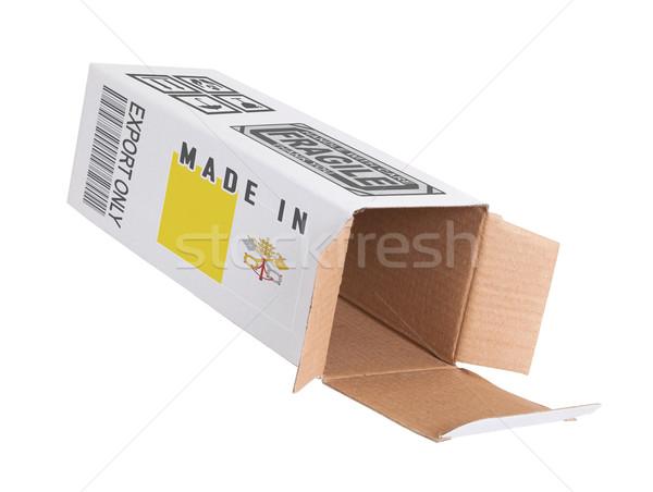 エクスポート 製品 バチカン市国 紙 ボックス ストックフォト © michaklootwijk