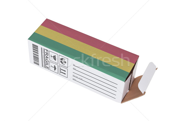Exportar produto Bolívia papel caixa Foto stock © michaklootwijk