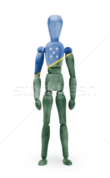 Wood figure mannequin with flag bodypaint - Solomon Islands Stock photo © michaklootwijk
