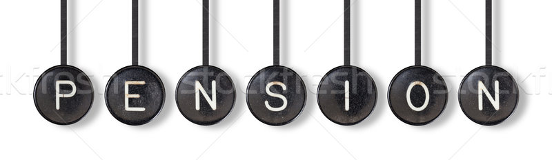 Typewriter buttons, isolated - Pension Stock photo © michaklootwijk